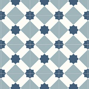 0091 Anti Slip Tile Effect Designer Vinyl Flooring
