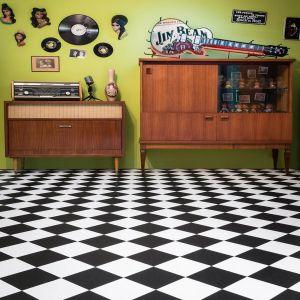 099 Anti Slip Tile Effect Designer Vinyl Flooring
